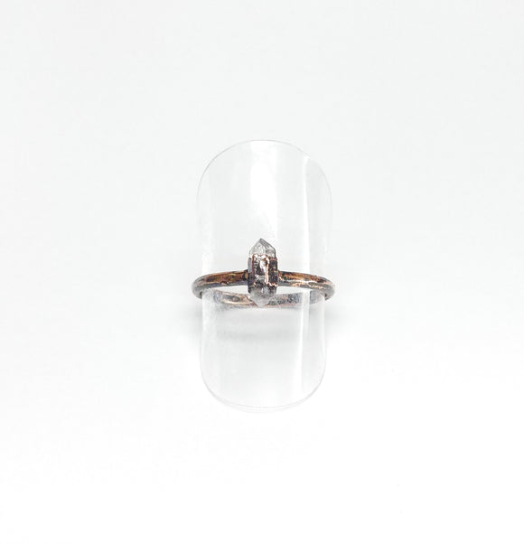 Delicate Herkimer Diamond Ring Size 6-1/2