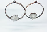 Crystal Cluster Hoop Earrings