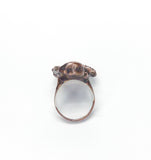 Sparkling Cluster Ring w/ Mushrooms Size 9-1/2