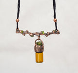 Tree Limb with Peridot Oil Bottle Memory Jar - The Wacky Wanderers