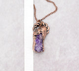 Amethyst Cluster Pendant, pendant with bail is 1 1/2 inch