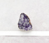 Amethsyt Cluster Cocktail Ring Size, Amethyst is 1 x 1 1/8 inch