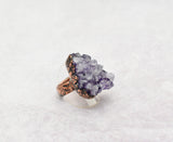 Amethsyt Cluster Cocktail Ring Size 8-1/4, sparkle and bling