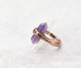 Fluorite Point Ring Size 9, band is 1/8 inch wide