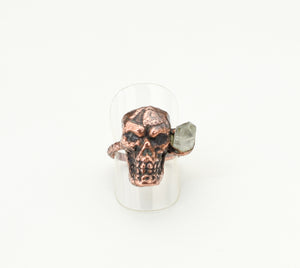 Skull with Crystal Point Ring Size 6
