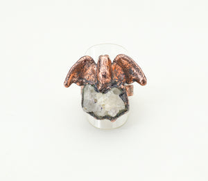 Bat with Crystal Cluster Ring Size 7 - The Wacky Wanderers