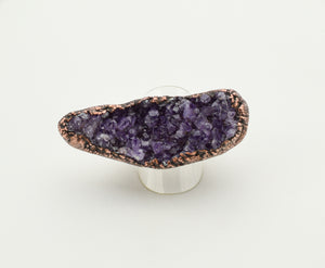 Amethyst Cluster Curved Ring - The Wacky Wanderers