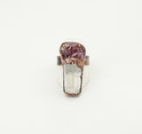 Spinel and Crystal Quartz Ring Size 9-3/4 - The Wacky Wanderers