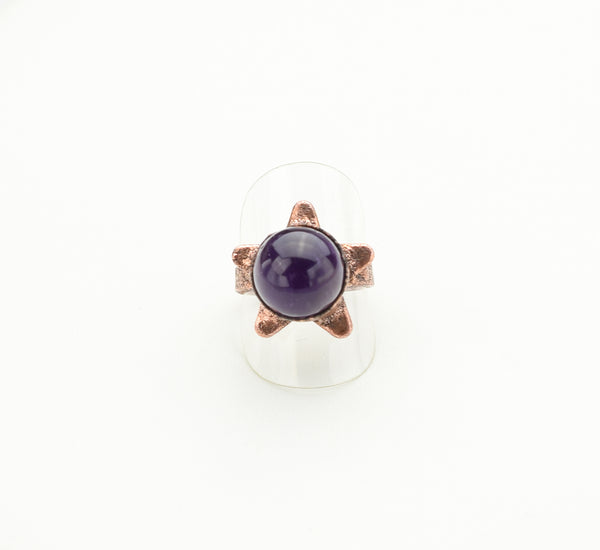 Star with Amethyst Sphere Center Ring Size 9. The Wacky Wanderers