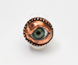 Green Eye Ring Size 9 1/4 - The Wacky Wanderers