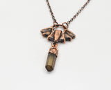 Bat with Smoky Quartz Point Pendant