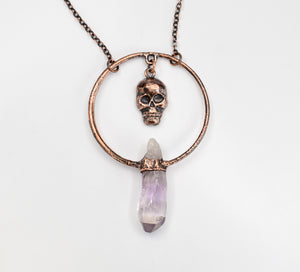 Skull Dangle w/ Vera Cruz Amethyst Hoop Pendant - The Wacky Wanderers