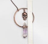 Skull Dangle w/ Vera Cruz Amethyst Hoop Pendant 2 x 3 inches