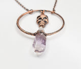Skull Dangle w/ Vera Cruz Amethyst Hoop Pendant