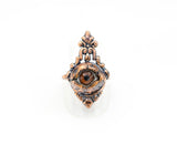 Art Deco Inspired Brown Eye Ring Size 8-3/4