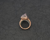 Vera Cruze Amethyst Ring Size 7-1/2, profile is 1/2 inch high