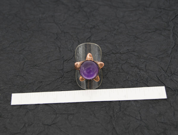 Star with Amethyst Sphere Center Ring Size 9, twinkle star is 22mm