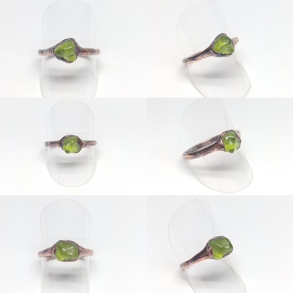 Peridot Nugget Rings