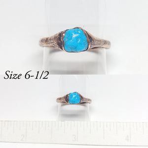 Sleeping Beauty Turquoise Nugget Rings