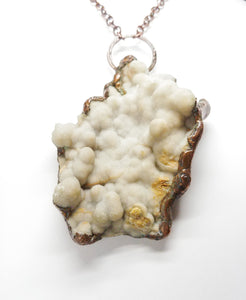Natural Botryoidal Druzy Statement Pendant