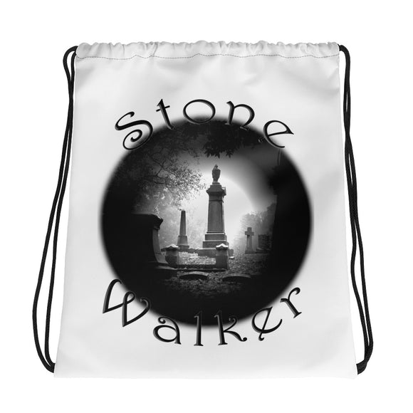 Stone Walker Round Drawstring bag