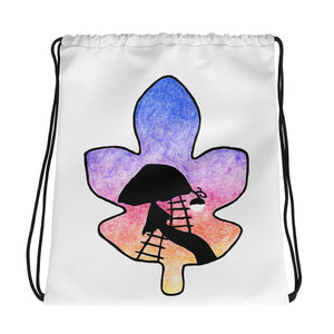 Twilight Leaf Drawstring bag