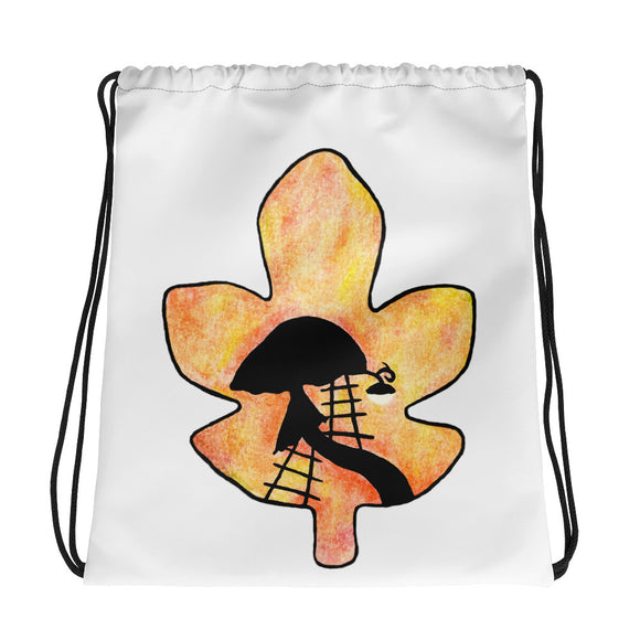 Autumn Leaf Drawstring bag
