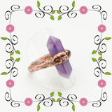 Fluorite Point Ring Size 9