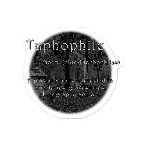 Taphophile Bubble-free stickers