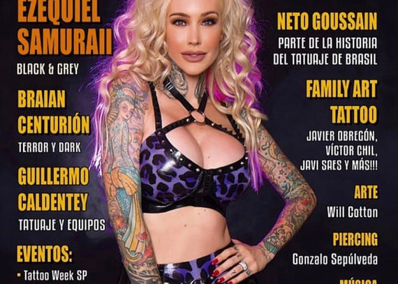 Sabina Kelley on the cover of Arte Tattoo magazine