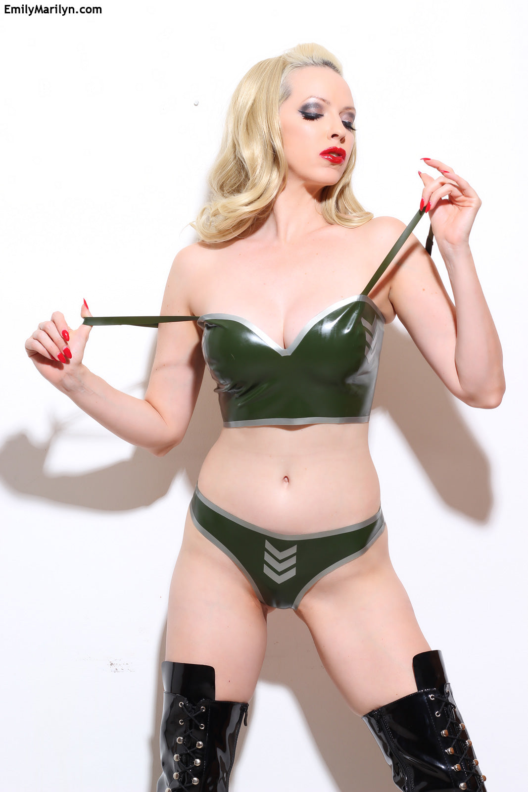 Latex military thong
