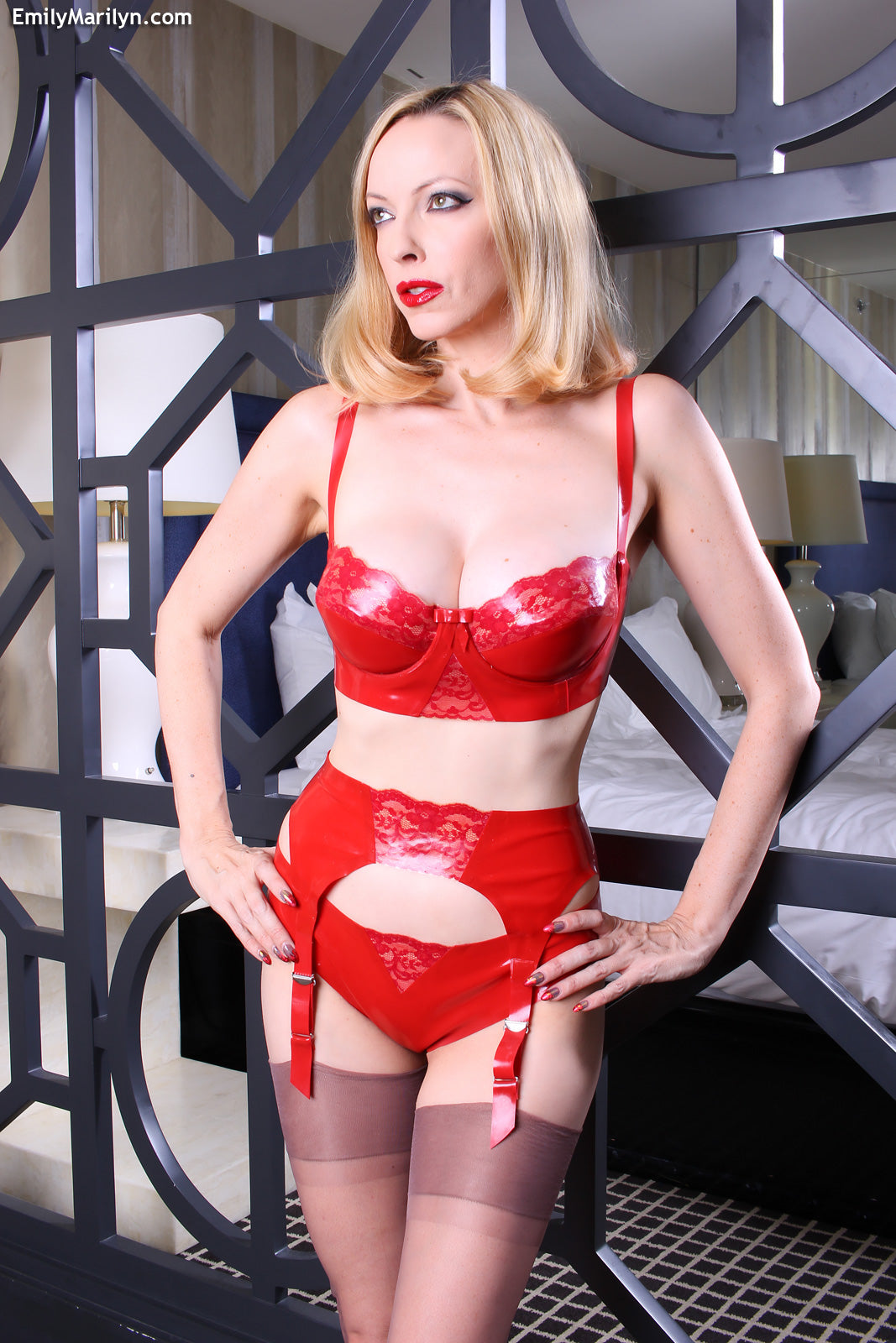 Latex lace Ruby bra