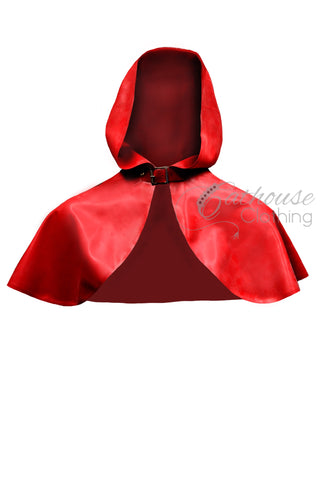 Latex hooded mini cape
