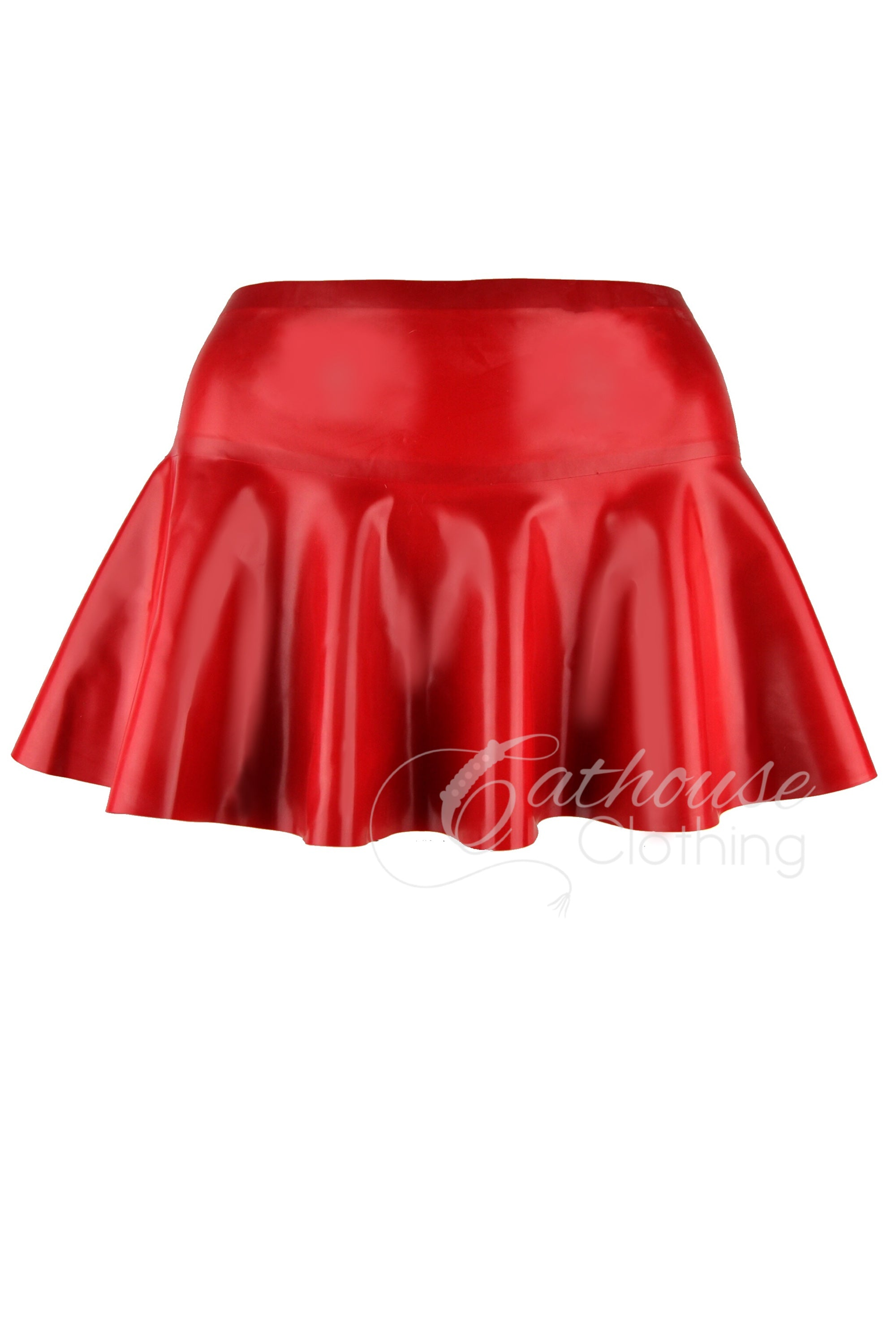Latex cheerleader skirt