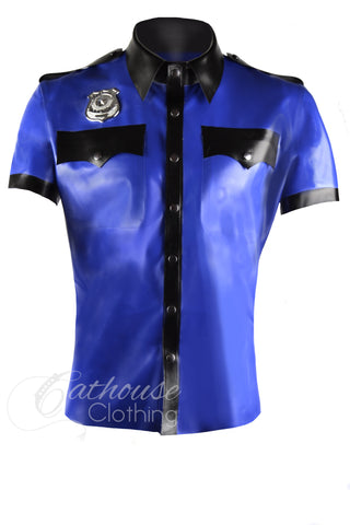 Latex Police officer shirt