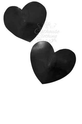 Latex heart nipple pasties