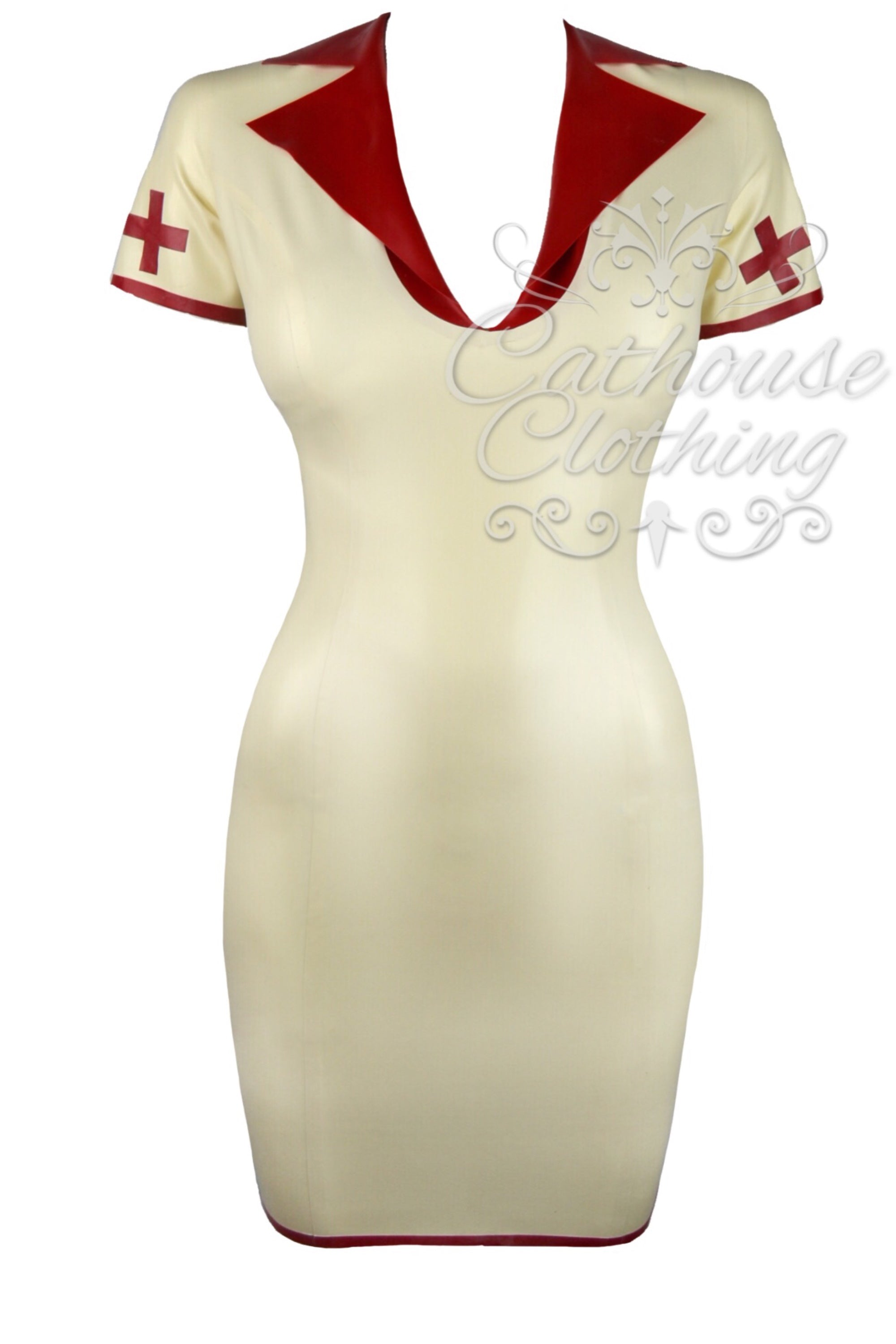 Latex sister Suzy nurse dress