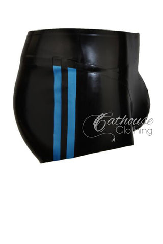 Latex Pouch Shorts with stripe