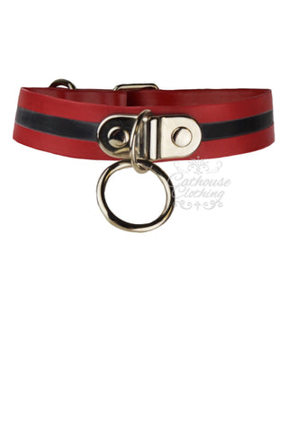 Latex edged ring collar