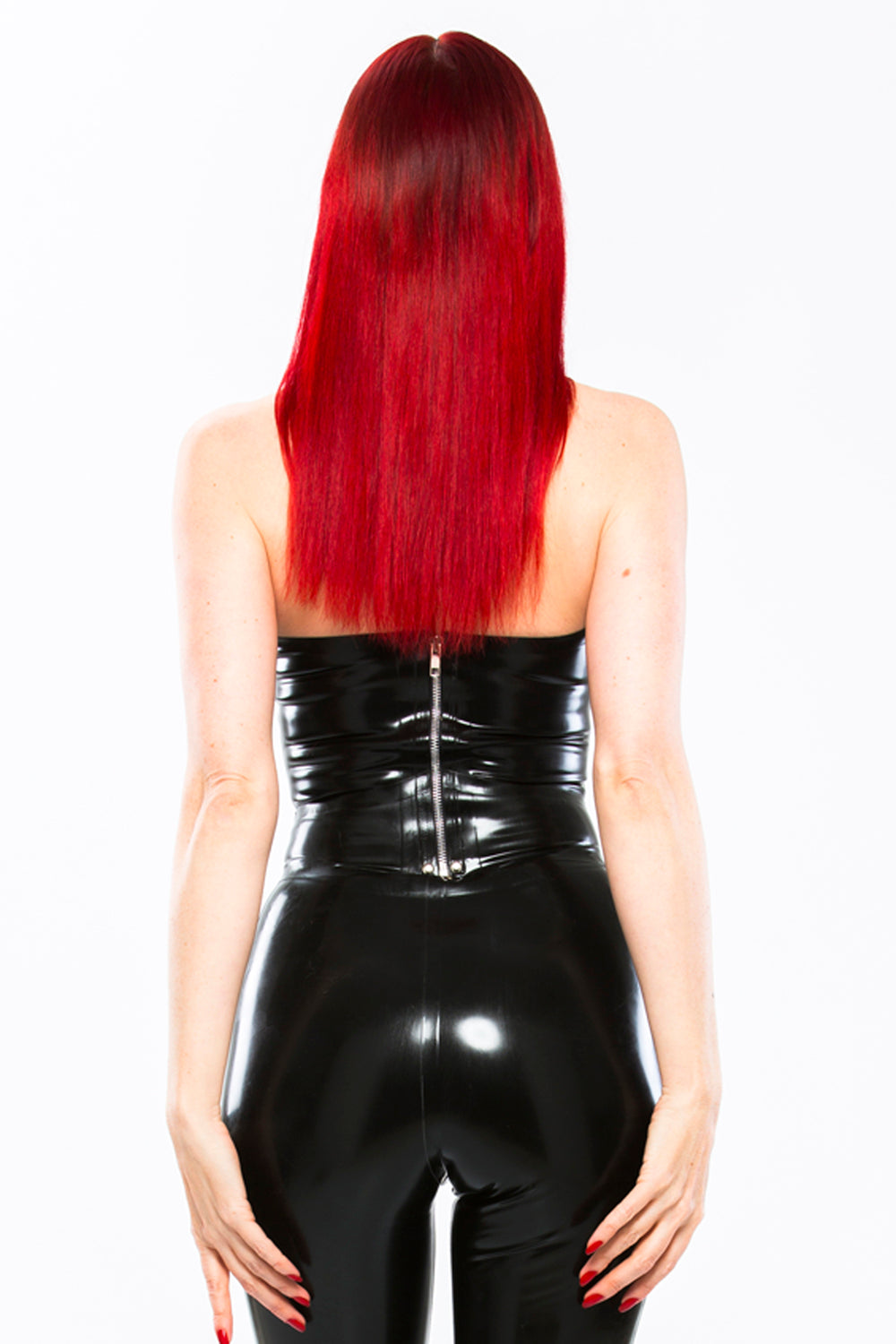 Latex Lenore strap top