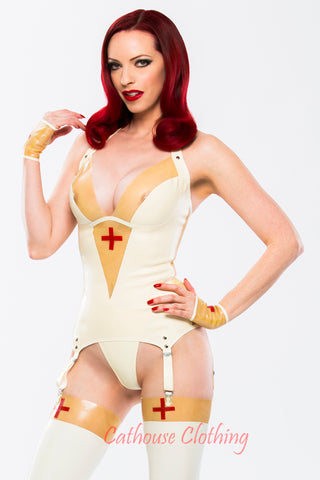 Latex nurse basque