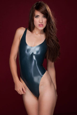 Latex thong playsuit