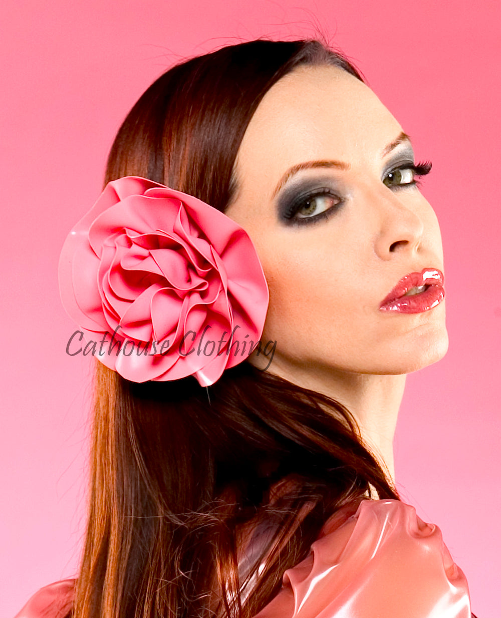 Latex Peony hair flower
