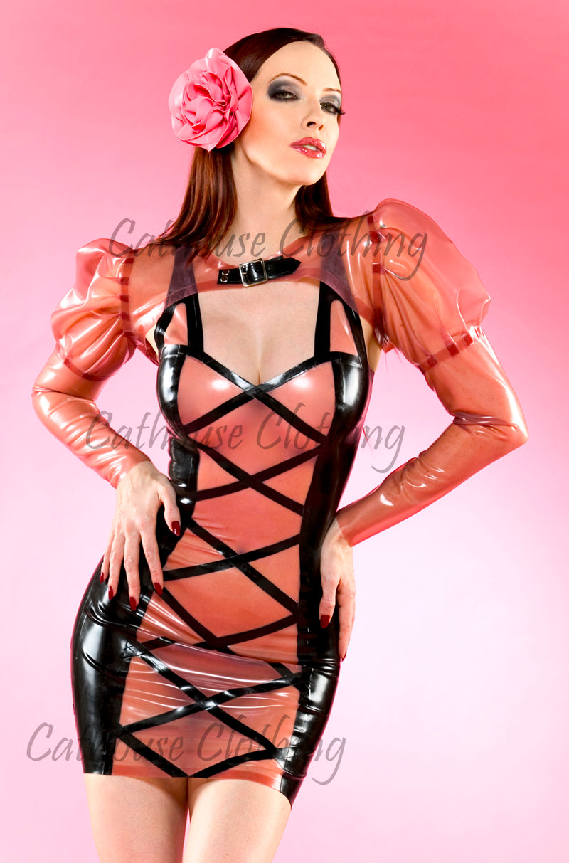 Latex criss-cross dress