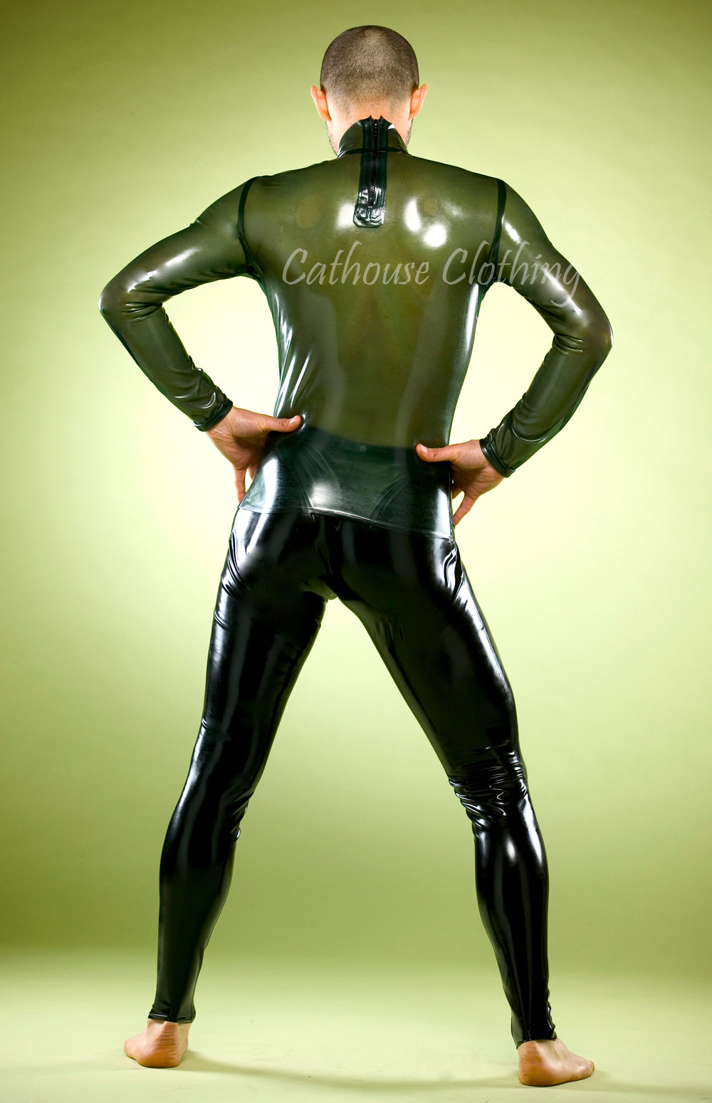 Men's Latex High Neck Top