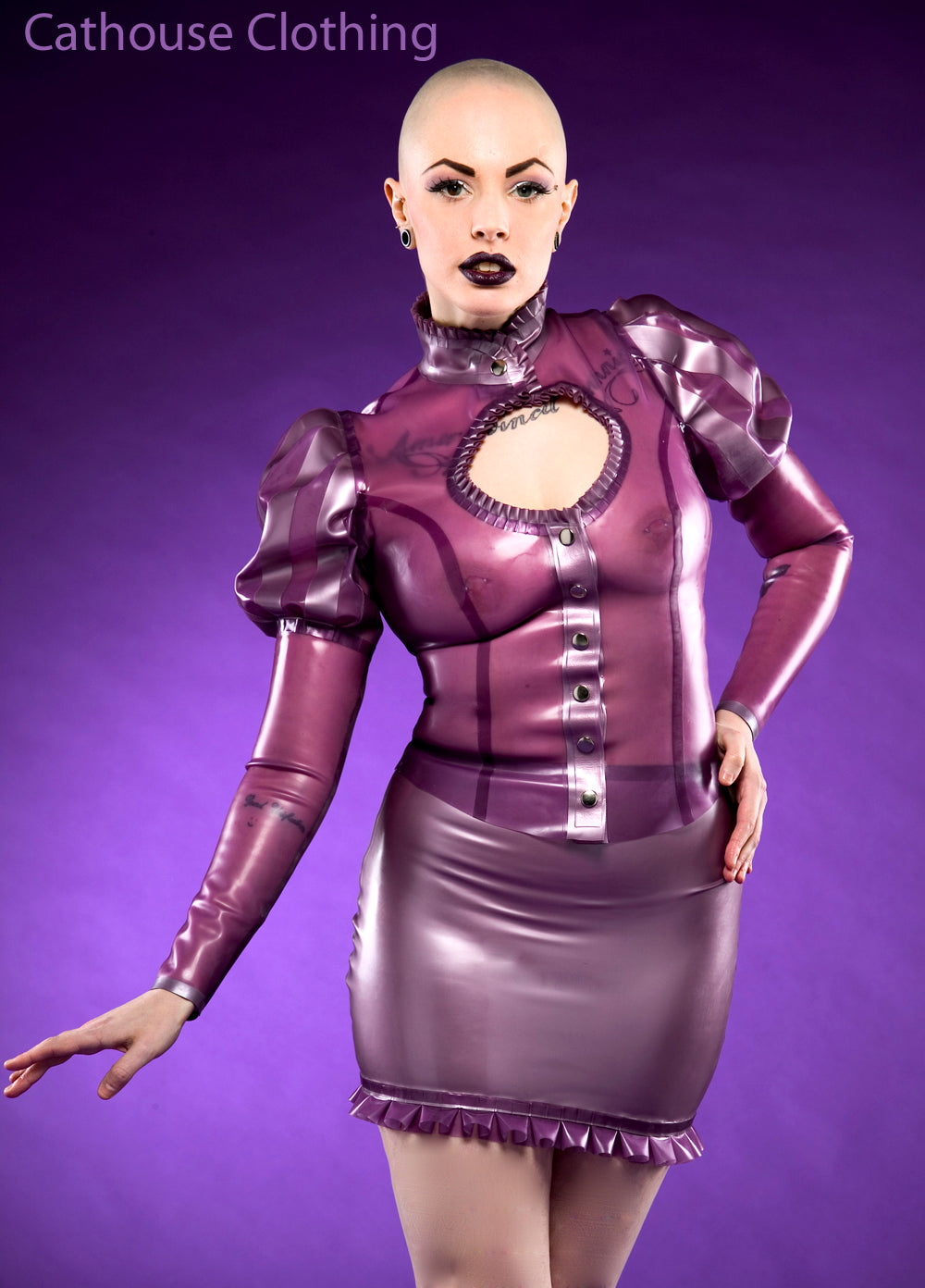 Latex Baroness blouse