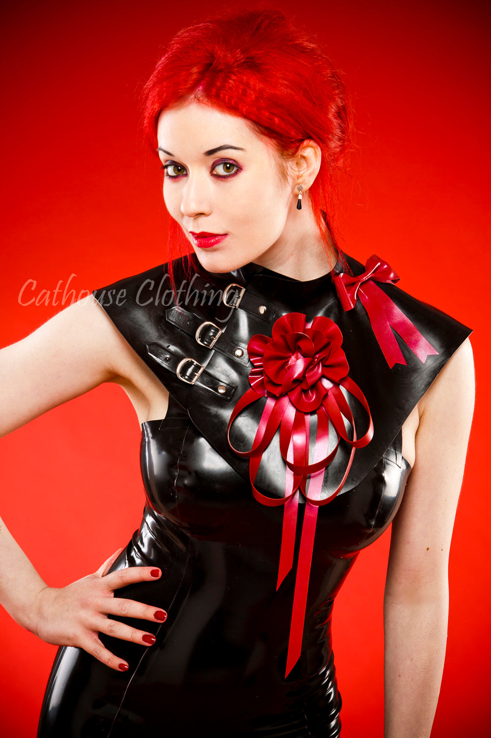Latex Freya Collar Cape
