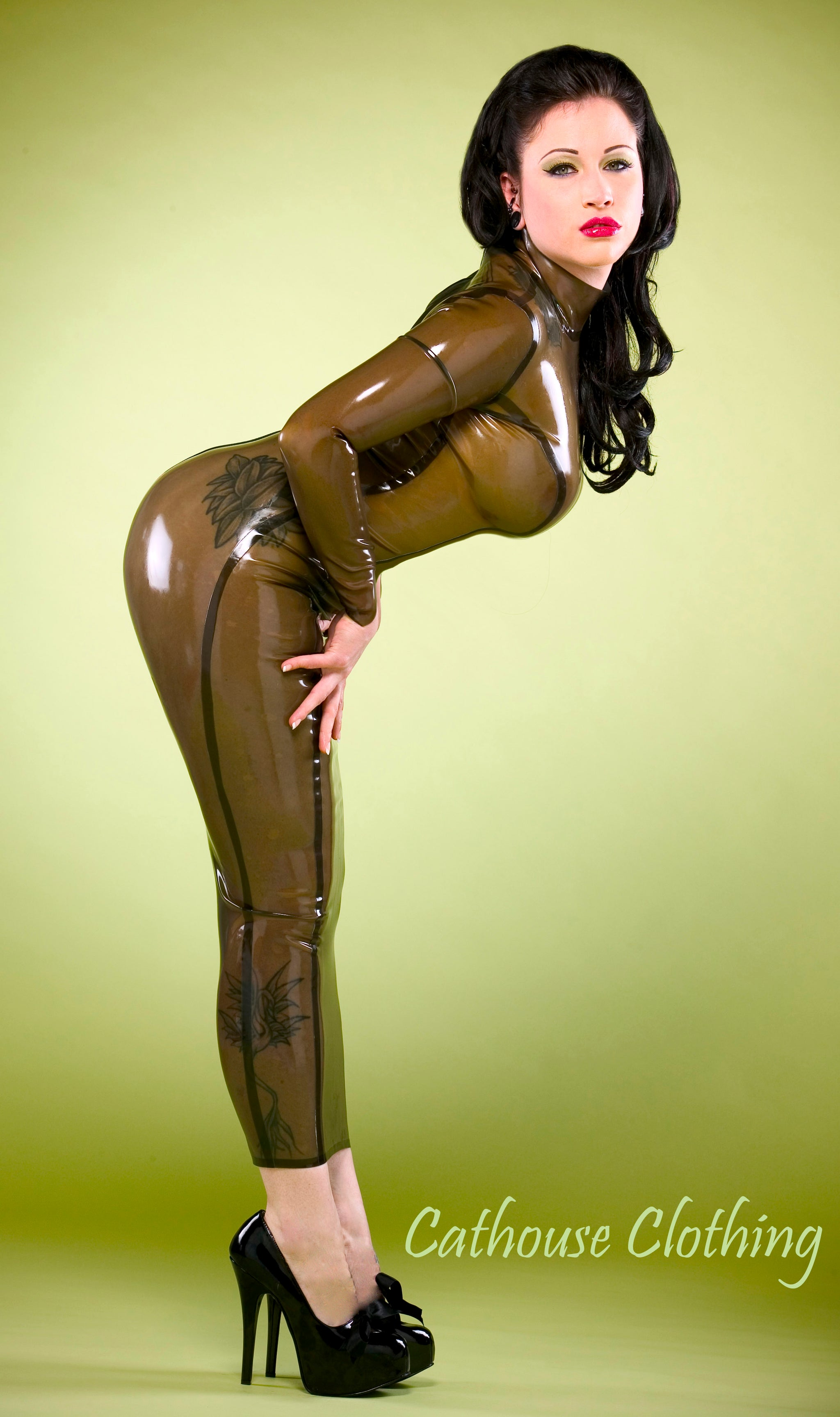 Latex hobble dress