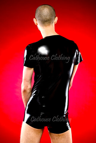 Men's Plain Latex T-shirt