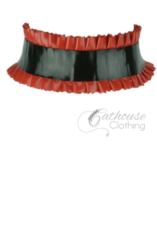 Latex mini-frill choker
